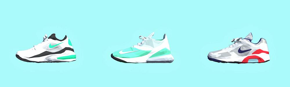 Nike Air Max Low Poly 3D models
