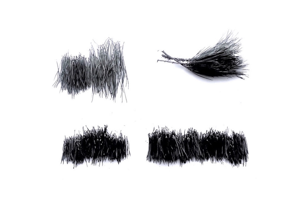 Hocus Pocus,  hoc est corpus meum.     2017   Pine needles, graphite.