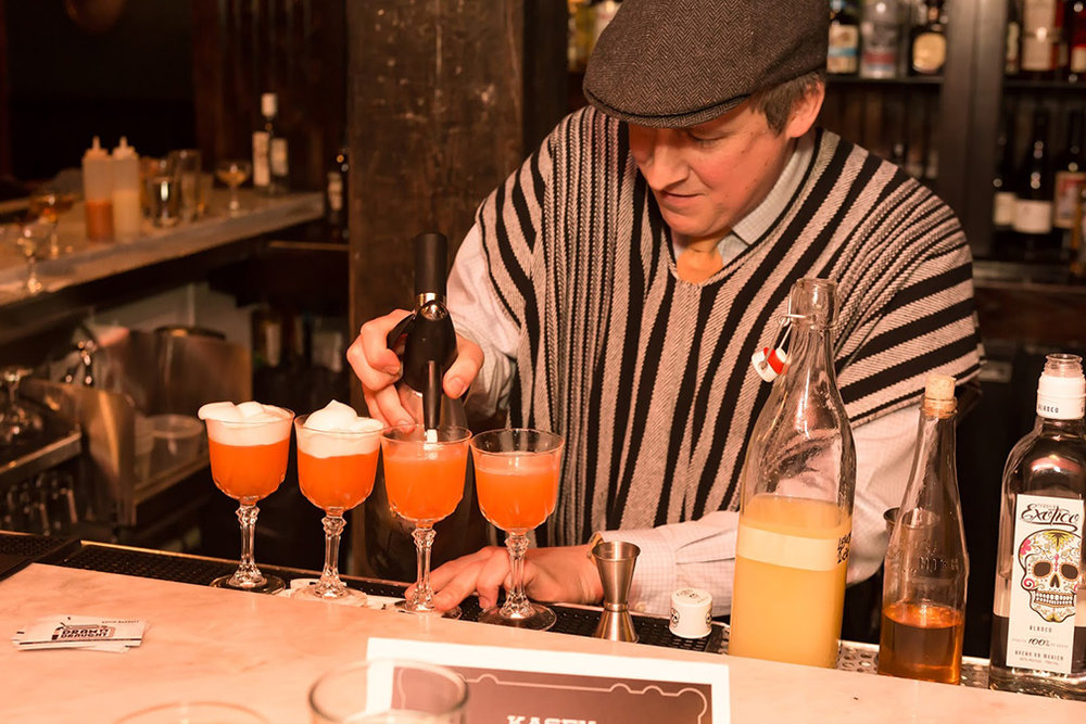 Kevin Barrett of Dram & Draught won the Raleigh regional competition c/o Make it Exotico