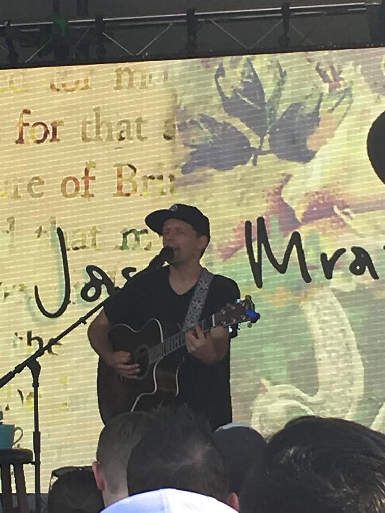 Jason Mraz taking the stage -