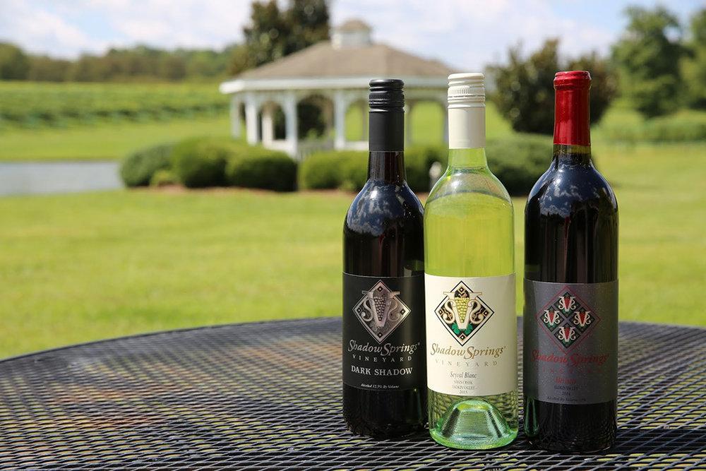 Shadow Springs Vineyards Top Selling Wines.JPG