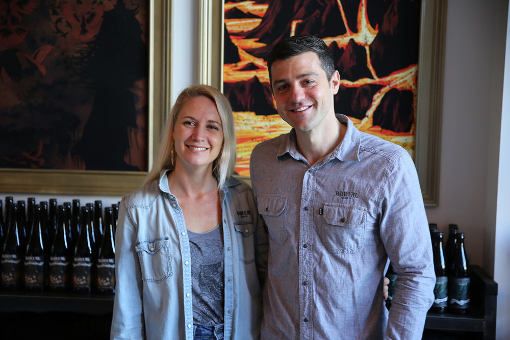 Jess and Doug Reiser are co-owners of Asheville's Burial Beer Co.