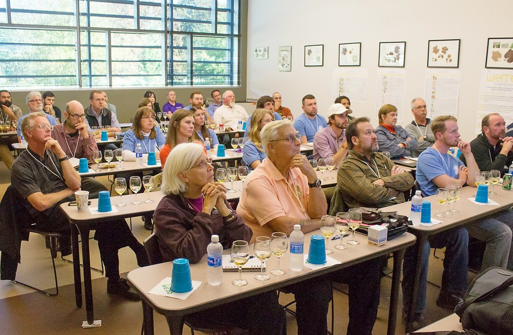 Participants listen closely to an educational class at Surry Community College.  Photos c/o Surry Community College