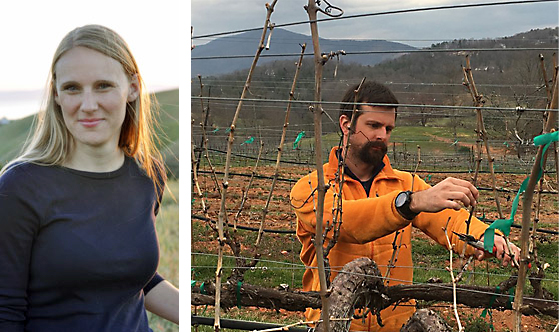 - Maria Carroll, left, and Cain Hickey, right, are just two of the speakers that will be at the Southeastern United Grape and Wine Symposium.