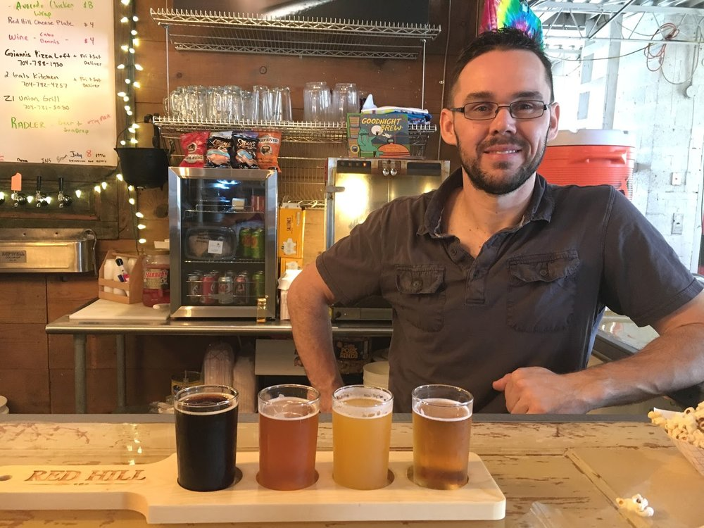 Red Hill's brewer and co-owner Chris Abney