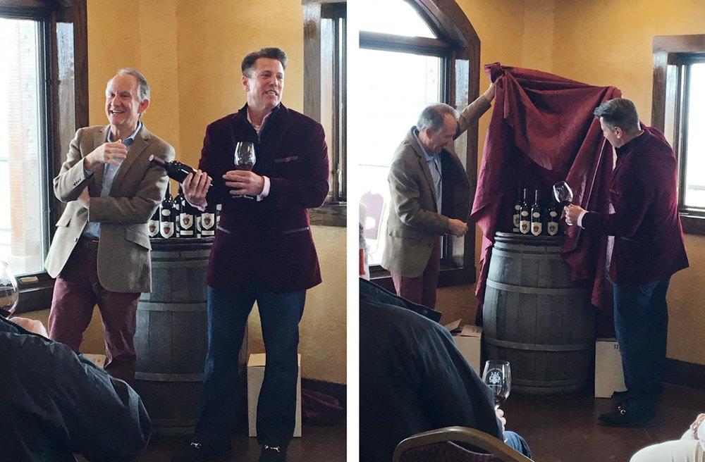 Ray and JW unveil the new collaboration wine.