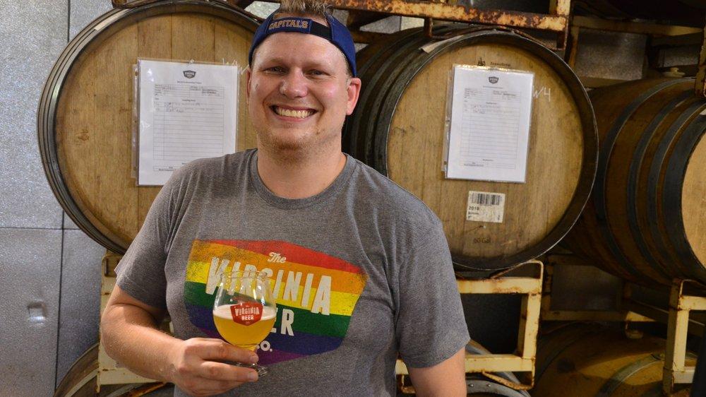 Robert Wiley is co-owner of The Virginia Beer Company in Williamsburg, Virginia.