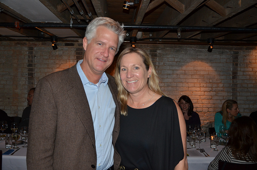 Pam Starr of Crocker & Starr Wines at a wine dinner in downtown Raleigh.