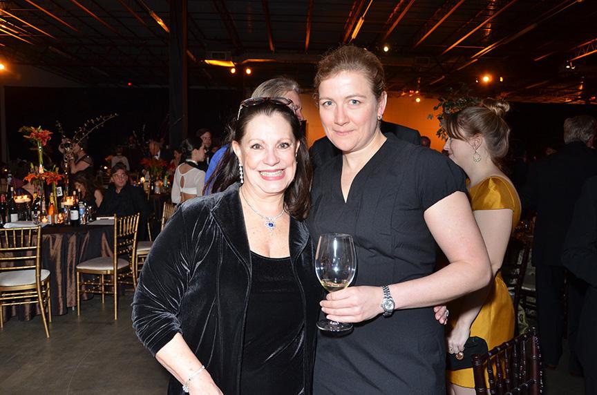 Eliza Kraft Olander, left, and Ashley Christensen of AC Restaurants at the TWE grand gala.