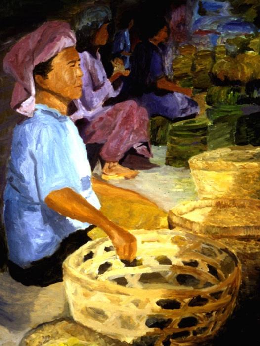 Morning Market Ubud III 1999 36x48