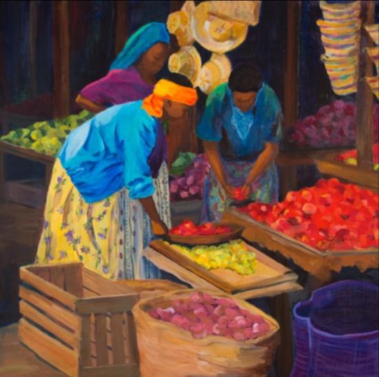 Morning Market: Arusha III, 42x42, 2014