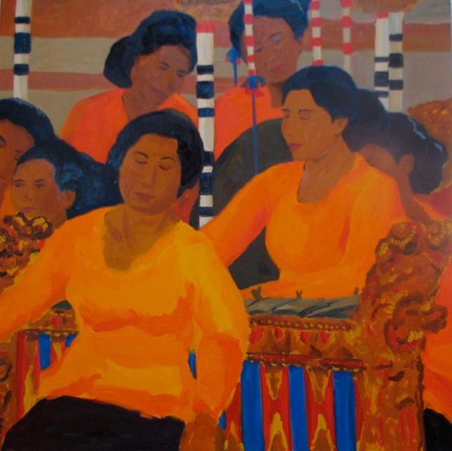 Gamelan II, 42x42, 2008