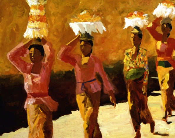 Temple Procession V, 42x48, 2002