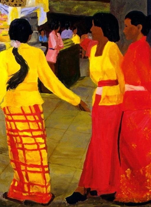 Temple Festival II, 36x48, 2003