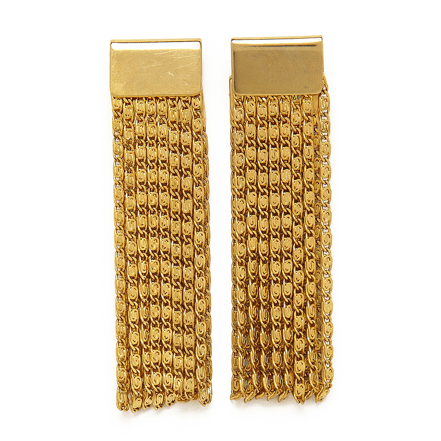 Folded Chain Earring