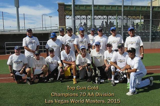 Top Gun Gold 70-75 AA World Masters Champions-2015
