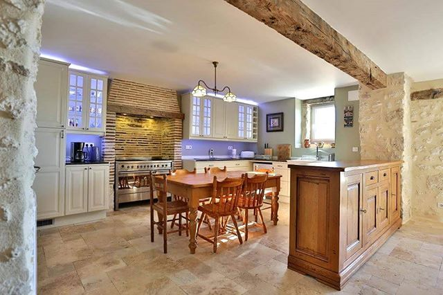 Channel your inner cordon bleu chef in the gite's spacious kitchen at Domaine de Rambeau #france #holiday #villa #summer #cooking