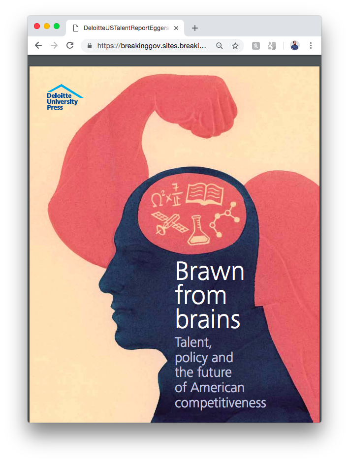 Brawn from Brains    Deloitte University Press journal about the tectonic shifts in America's workforce after the recession.
