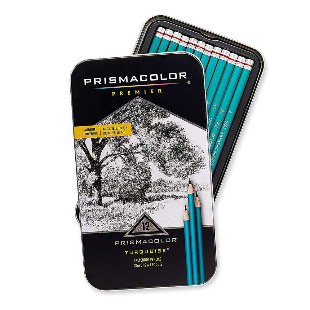 Prismacolor Premier Turquoise Graphite Pencils - I really like these pencils. They are pretty cheap and always consistent in quality.