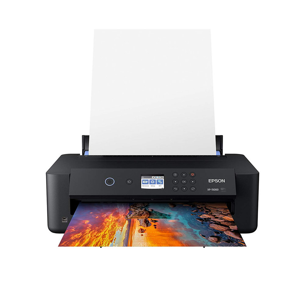 """EPSON Expression Photo HD XP-15000 - This printer has served me very well. When combined with premium Epson paper and archival ink cartridges, it produces some seriously gorgeous prints. It's relatively cheap, too. And it prints 13"""" wide borderless images!"""