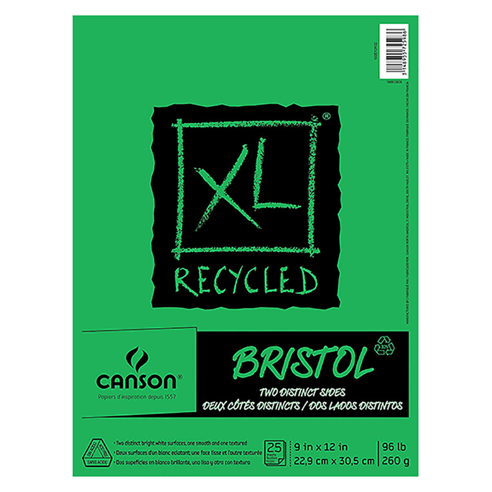 Canson XL Series Recycled Bristol Paper - This is my paper of choice for large finished pieces. The paper has a smooth side and a slightly toothier side. It holds ink and marker like a champ.