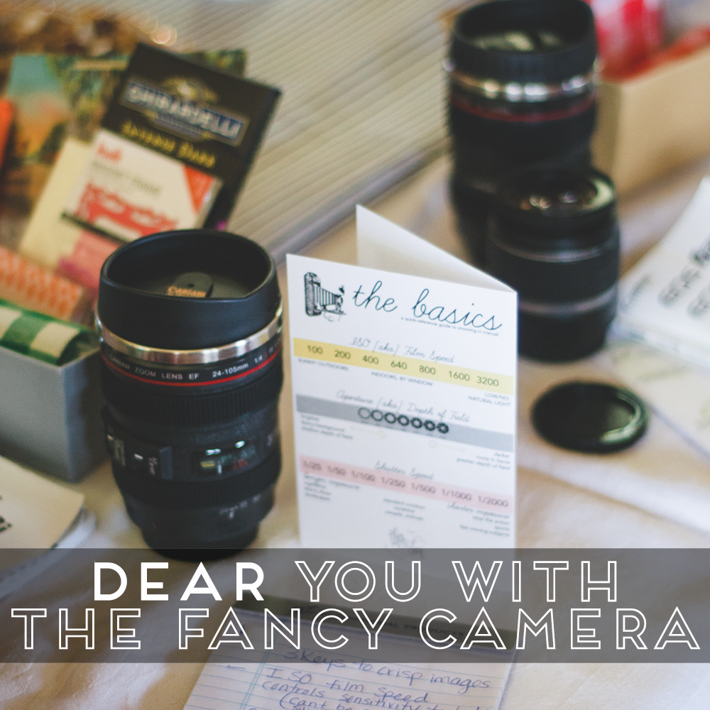 31 Days of Open Letters: A Blog Series at SarahSandel.com // An Open Letter to You With the Fancy Camera