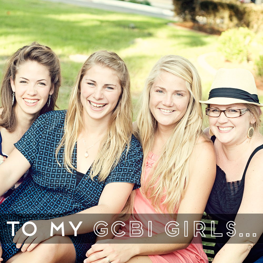31 Days of Open Letters: A Blog Series at SarahSandel.com // An Open Letter to My GCBI Girls