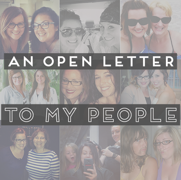 31 Days of Open Letters: A Blog Series at SarahSandel.com // An Open Letter to My People