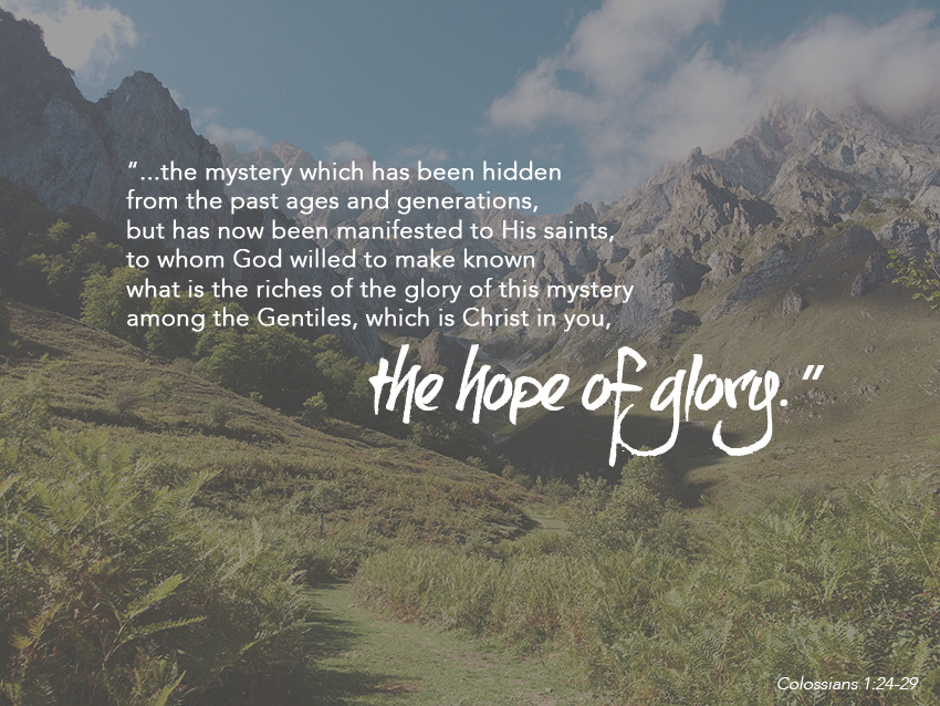 the mystery series || colossians 1:24-29 || sarahsandel.com