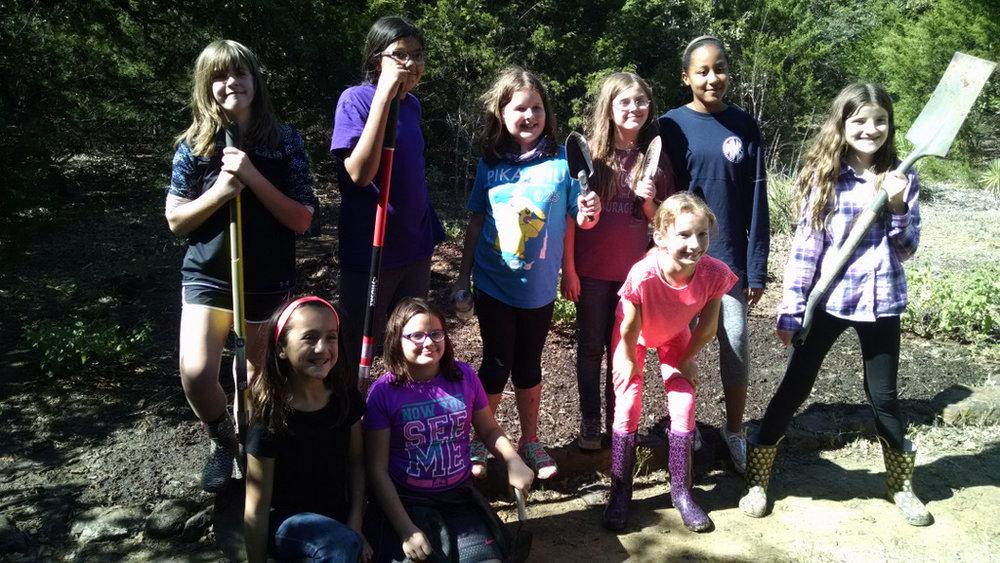 Planting a butterfly garden.
