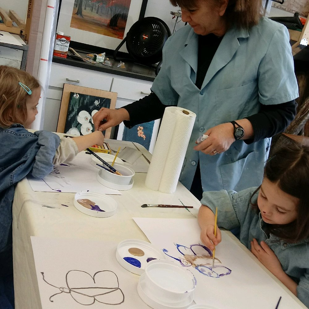 Children's art exploration. Create, play and explore. Private or group.