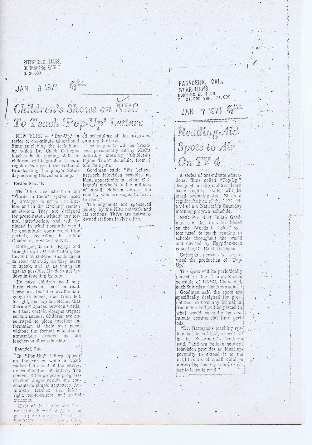 Berkshire Eagle, Star News, Jan 1971.jpg