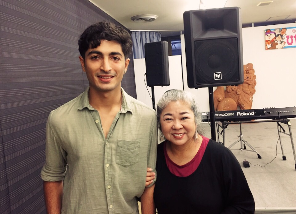 Dennis with Misako Koja ( 古謝 美佐子 )in Okinawa, JP Oct 2015