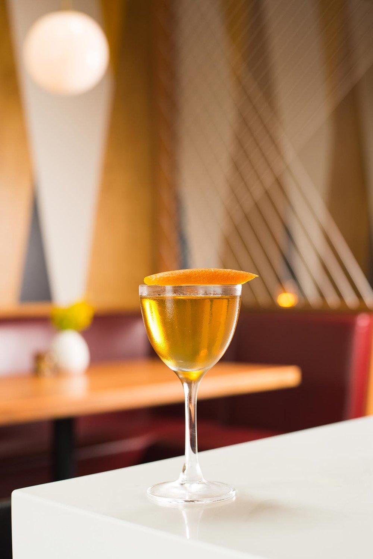 Topolino - Old Forester Signature 100 Proof Bourbon, Carpano Bianco Vermouth, Gran Classico Bitter, Orange Peel