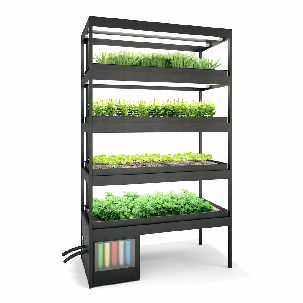 Smart Farming Modules - - Self-regulating technology- Automated nutrient dosing and pH control- Available in 2'x4 and 4'x8' dimensions- Customization options, including enclosuresRequest a design consultation to learn more.