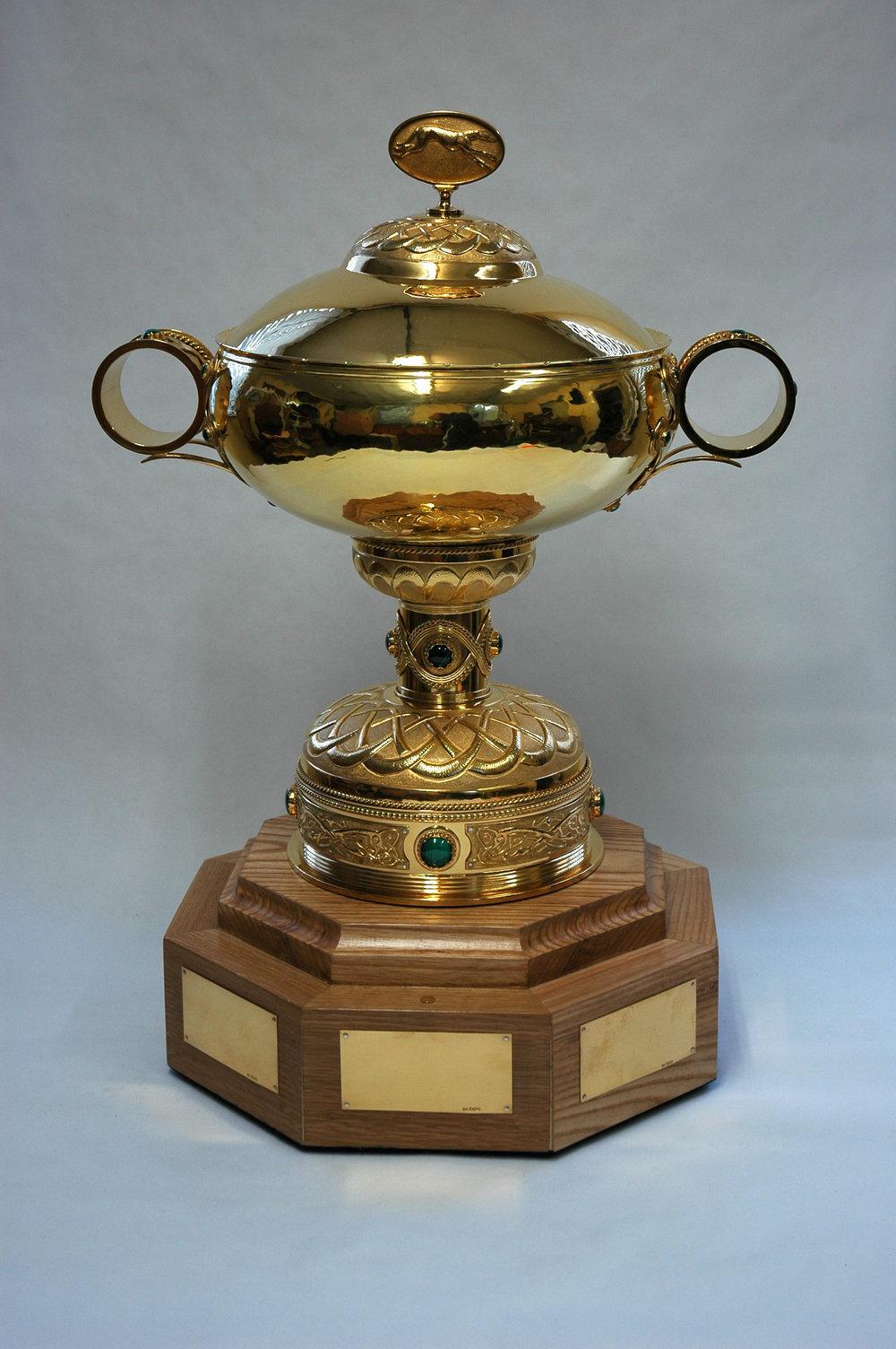 Large silver gilt award