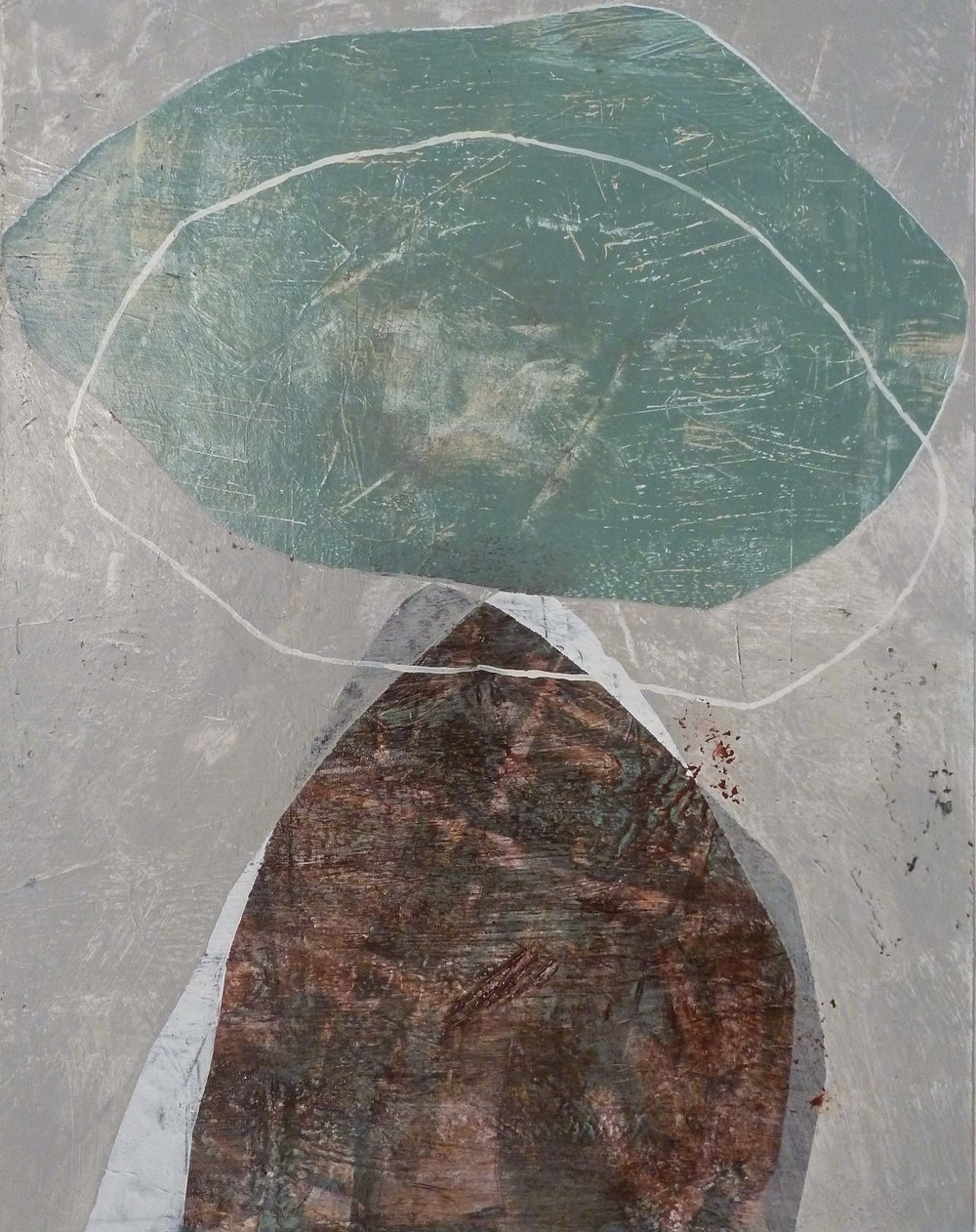 "Pilgrim I, acrylic on museum board, 13.75"" x 11"""