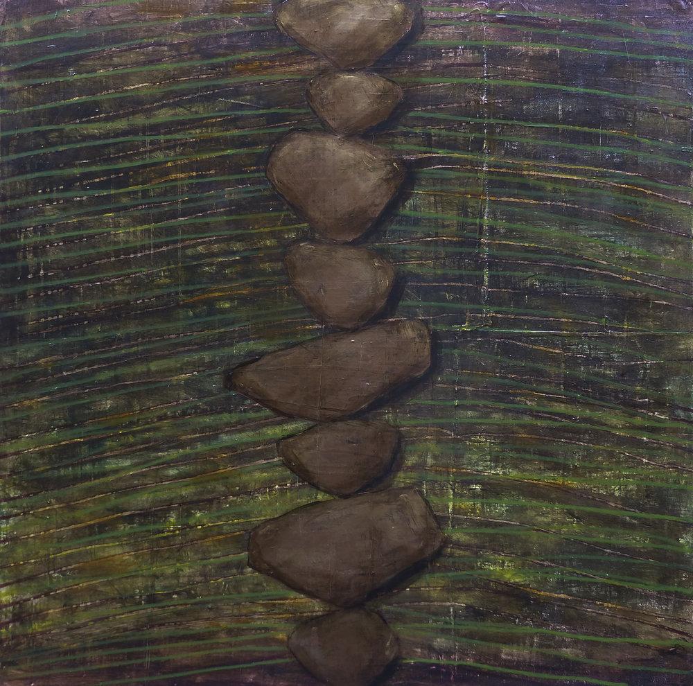 """The Path Forward, acrylic on panel, 36"""" x 36"""""""