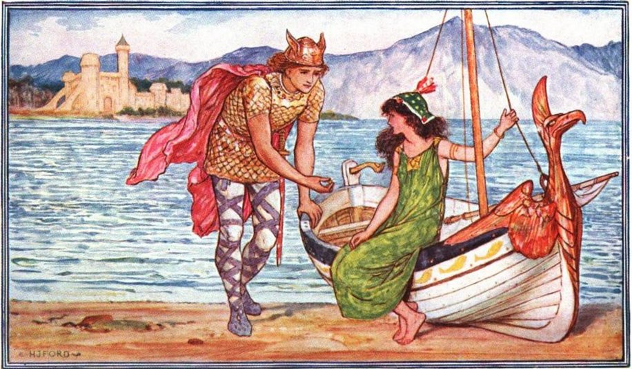 Sigurd and Helga, by H.J.Ford