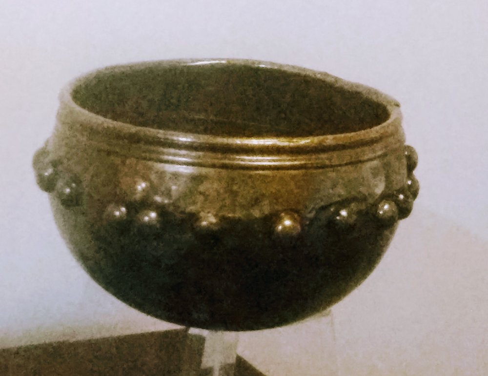 Bronze Iron Age bowl from Glastonbury Lake Village