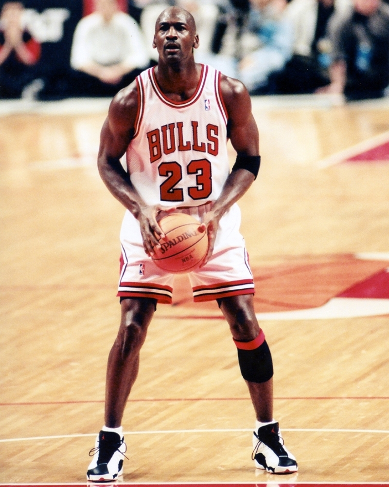 a259d57faae2 Michael Jordan at Free Throw Line — Chicago Bulls Framed Photo
