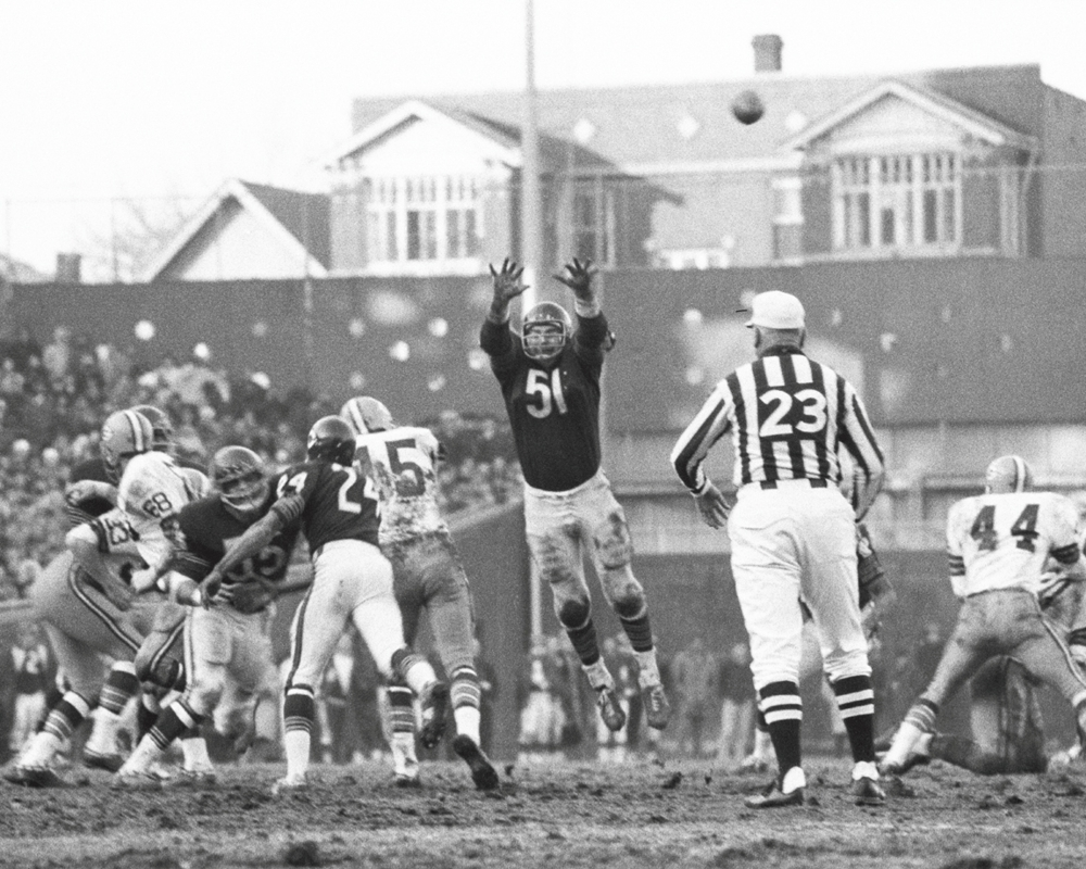 a616e20a Vintage Chicago Bears Black & White - Dick Butkus Defense — Vintage Chicago  Sports Framed Photo