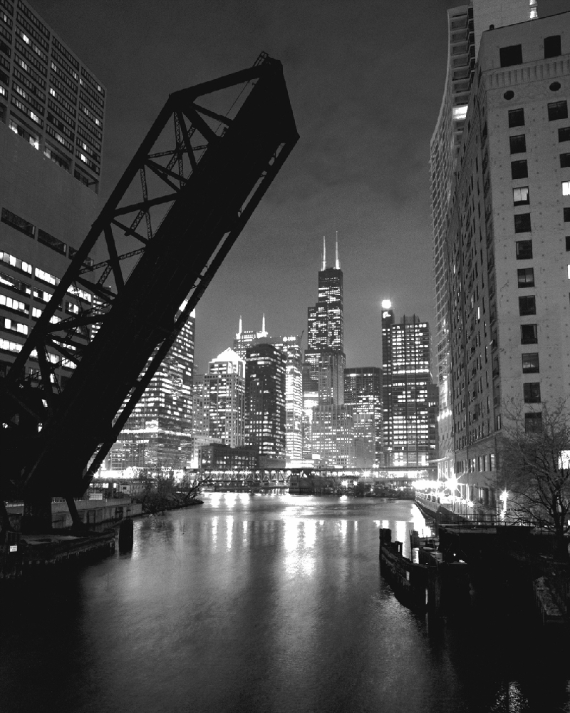 Sears tower black white chicago framed photo
