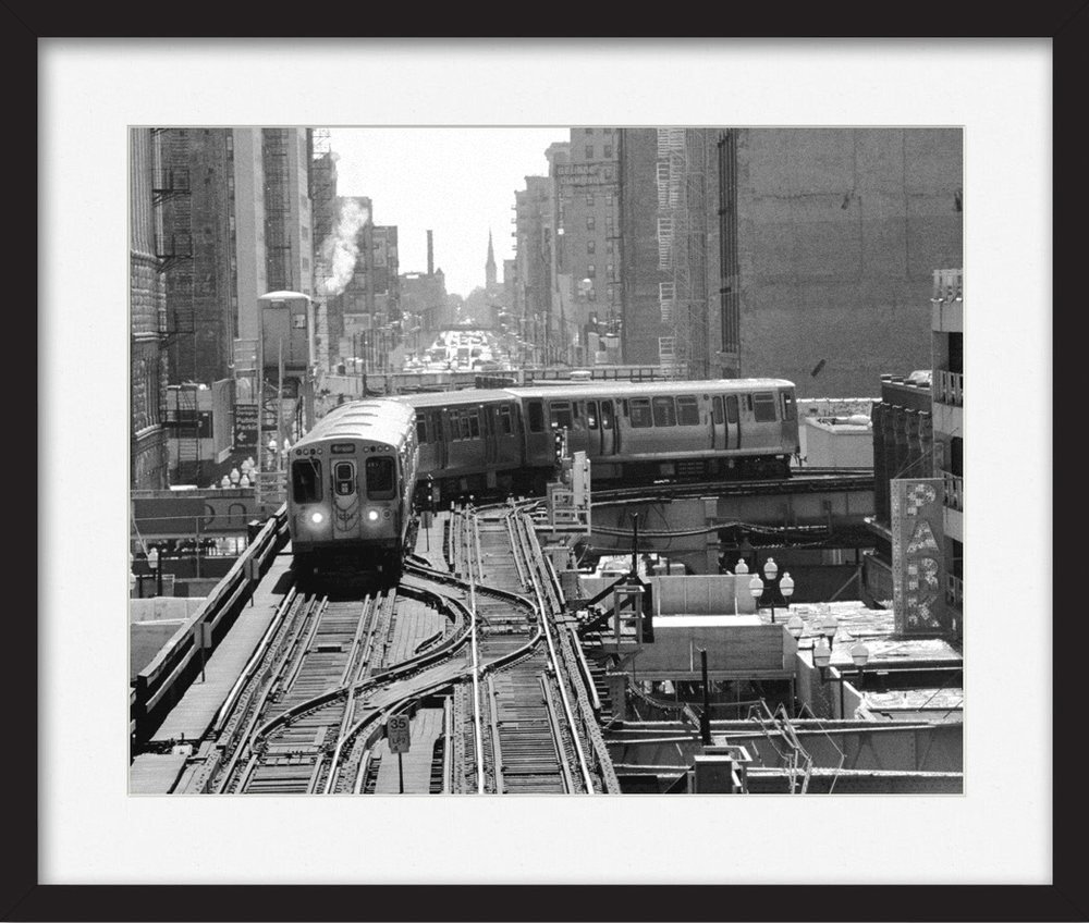 """Make It Modern - Decorate your walls with a classic print of Chicago that has a modern styled finish.Mat: """"Bright White - Single Mat""""Frame: """"Classic Black - Wide Flat'"""""""