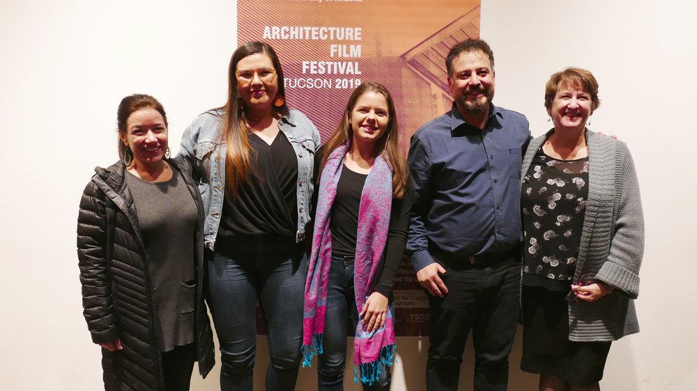 Teresa Rosano, Jasmin Guzman, Rachel Schultz, Miguel Contreras and Laura Hollengreen at the kick-off event,  January 24, 2019.