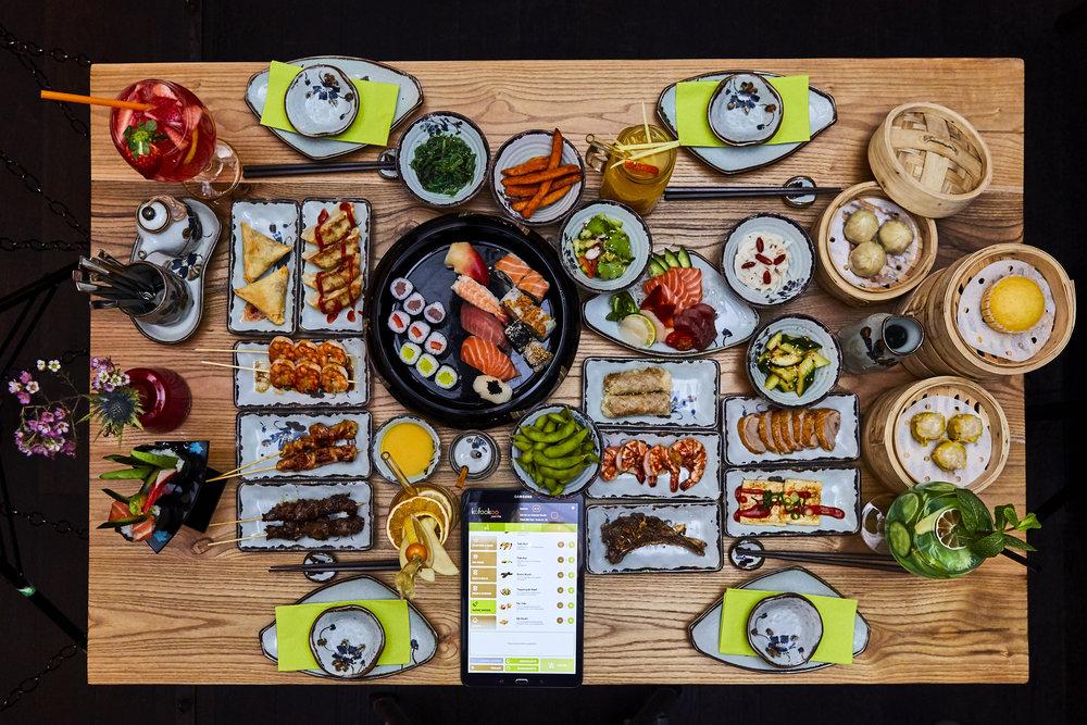 All You Can Enjoy - Unser Menüangebot umfasst eine große Auswahl aus etwa 150 verschiedenen asiatischen Speisen, bestehend aus Sushi, Dim Sum, Grillspezialitäten vom Teppangrill, frittierten Gerichten, Wokgerichte, Suppen, Salate und verschiedene asiatische Deserts.