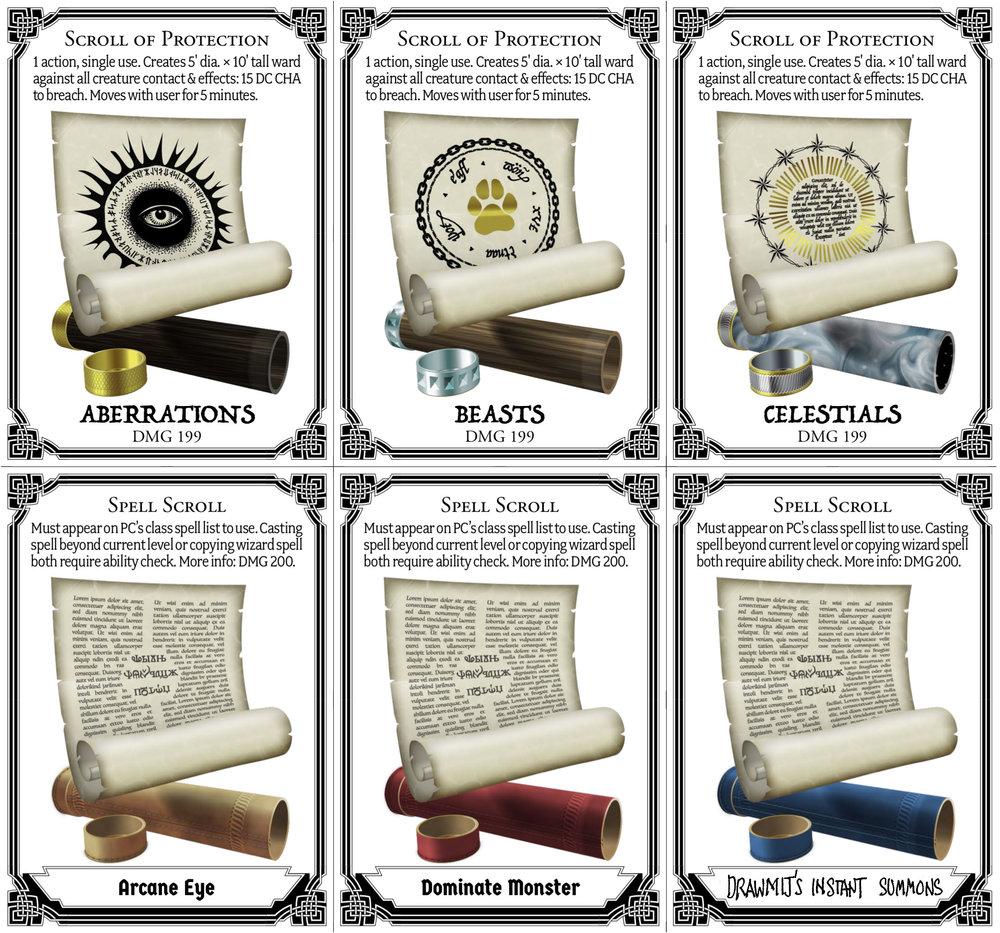 5e scroll cards
