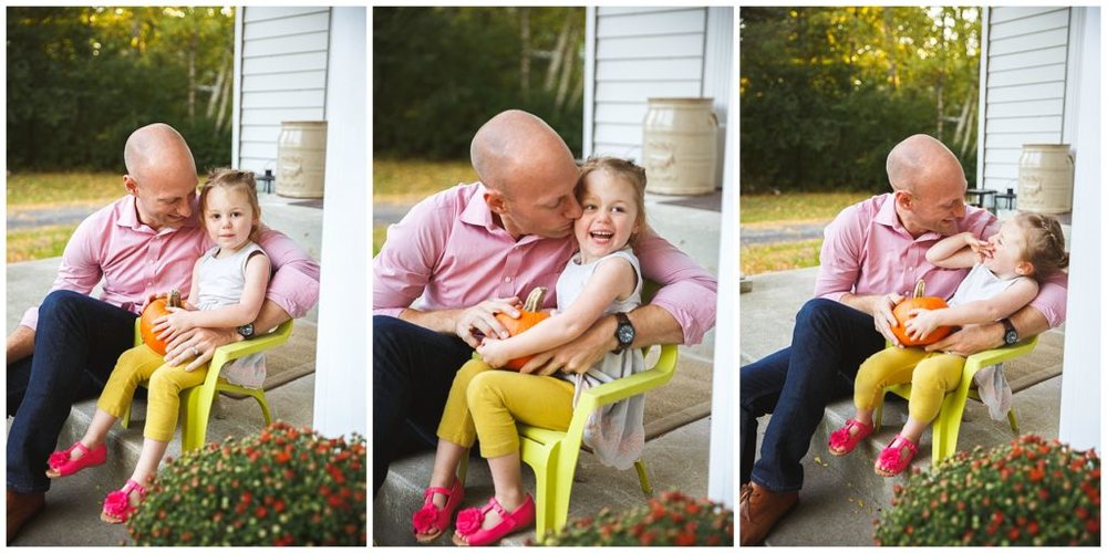 Daddy daughter bonding at home, Fox Point WI.