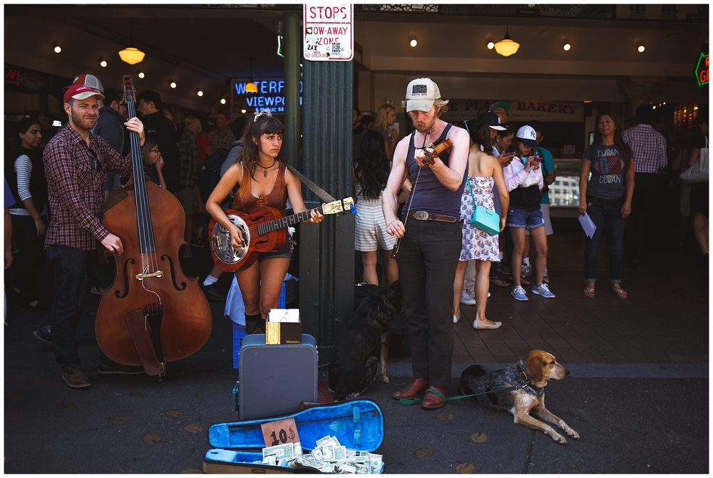 pike place, seattle, a little exploring - found some street musicians