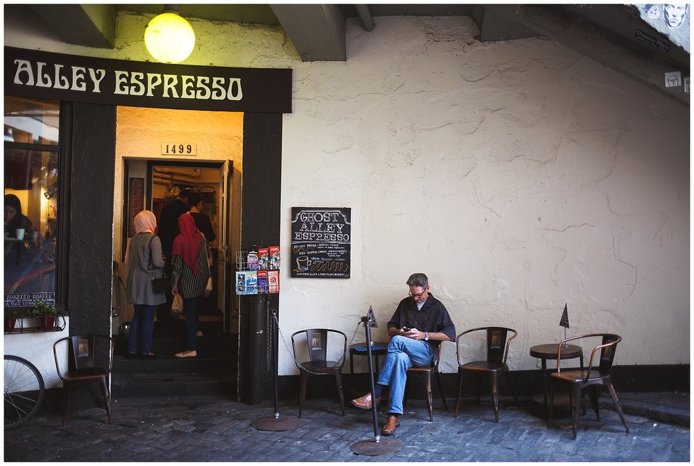 pike place, seattle, a little exploring - expresso alley